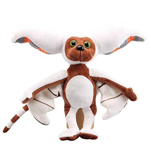 NSSTAR Niedliche Momo Plüschtiere Weiche Kuscheltiere Plüschfigur Puppen Kinderspielzeug Momo Fledermaus Plüschtier für Kindergeburtstag Weihnachten, 28cm