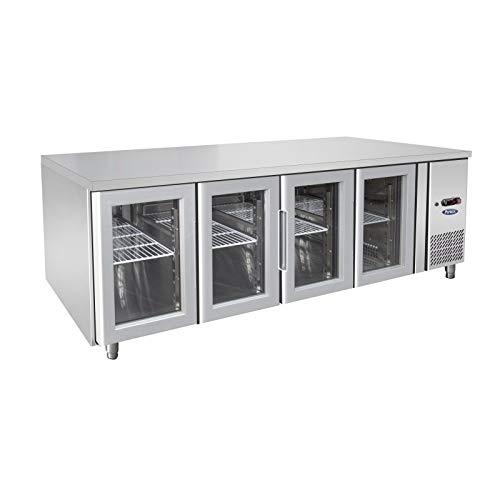 Mesa refrigerada positiva GN 1/1 de 4 puertas con cristal – 560 L – Atosa – R290 4 puertas 700