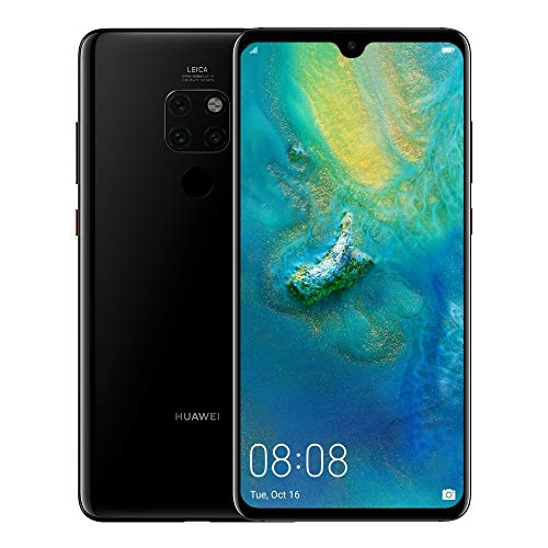 Huawei Mate 20 (128GB/4GB) 6.53' FHD+ Display Triple Camera 4000 mAh Battery 4G LTE GSM Dual SIM Global Unlocked (HMA-L29) International Version, Black
