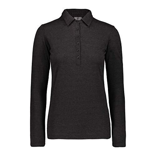 CMP Haut de la Fonction Haut Femme Polo Noir Respirant Chauffage - Noir, 38