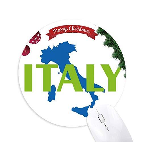 Karte Italien Europa Barcelona Rundgummi Pad Weihnachtsbaum Mat