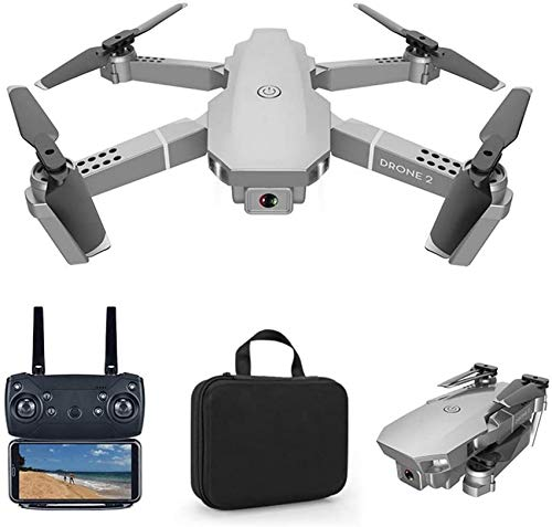 Drone 720P / 1080P / 4K Cámara para Adultos, WiFi FPV Video en Vivo Plegable Regreso a casa Tiempo de Vuelo Sígueme RC Quadcopter para Principiantes, con 2 baterías