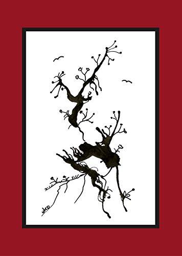 moderne Trauerkarten, 3 Klappkarten mit Umschlag