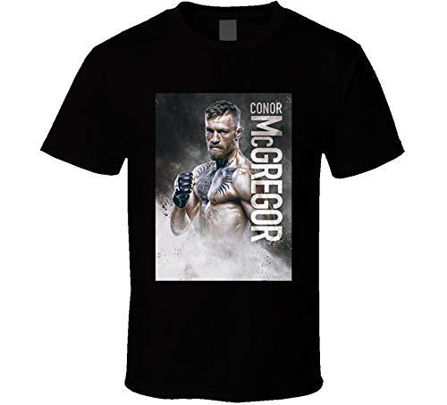 Conor Mcgregor The Notorious UFC Boxing Men's Black T Shirt 100% Cotton Shirt