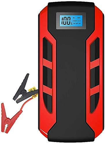 Metdek 10800 mAh 400 A batería de arranque portátil para coche, pantalla digital, cargador de coche de repuesto con doble carga USB