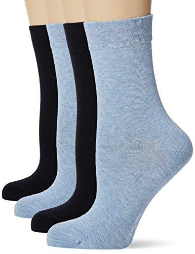 Camano Damen 1102000000 Socken, Blau (Navy 5999), (Herstellergröße: 39/42) (4er Pack)