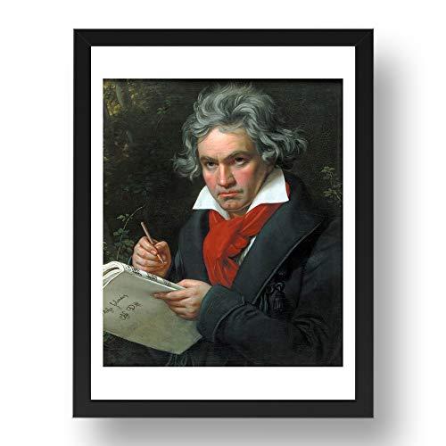 Period Prints Joseph Karl Stieler: Ludwig van Beethoven1820, arte vintage, reproducción A3...