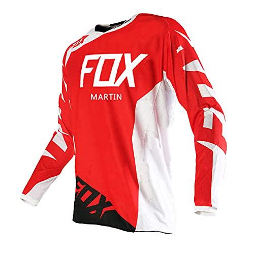KKQTMY Maglie Downhill Da Uomo Martin Fox Mountain Bike Maglie Mtb Offroad Dh Maglia Da Moto Motocross Abbigliamento Sportivo Abbigliamento Fxr -S