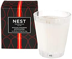 Classic Candle 230 g / 8.1 Oz. NEST Fragrances Sicilian Tangerine Classic Candle is a juicy fragrance that combines citrus notes of Sicilian tangerine and bergamot with tropical nuances of passion fruit and mango blended over a base of musk and prali...