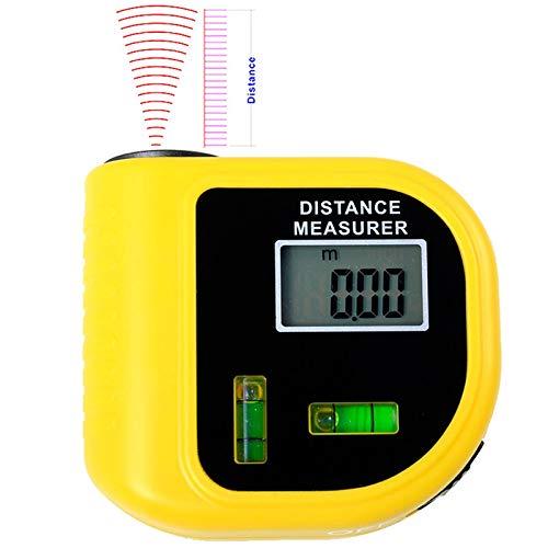 NOBGP Mini telémetro de 2 Piezas, telémetro de Distancia eléctrico ultrasónico de Mano, buscador de guardabosques ultrasónico Digital de 18 m, para decoración del hogar, Industria de Ingenieros de TI