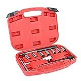 Qii lu Asiento de inyector diesel, kit de herramientas de reparación de vehículos para escariador de asiento de inyector diesel universal de 11 piezas