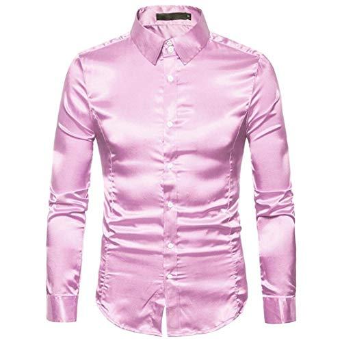 Camisas De Manga Larga para Hombres Camisa De Fiesta para Ropa Hombres...