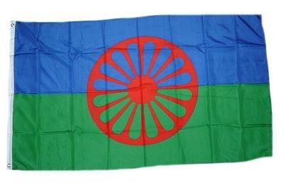 Fahne/Flagge Sinti und Roma NEU 90 x 150 cm Flaggen