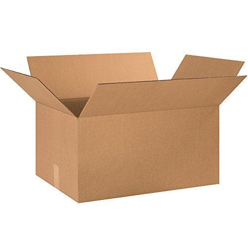Aviditi 241612 Corrugated Cardboard Box 24' L x 16' W x 12' H, Kraft, for Shipping, Packing and Moving (Pack of 10)
