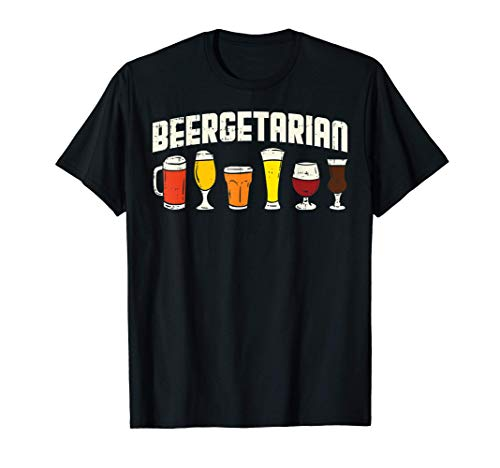 Beergetarian Beer Lover Pun Homebrew Fathers Day Dad Gift Maglietta