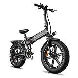 Bicicleta eléctrica Plegable para Adultos - neumáticos gordos ebike 750W Motor Bicicletas eléctricas 48 V 12 Ah batería extraíble 32 mph y 50 Millas 5 Modos de Funcionamiento DOCROOUP DS2 (Negro)