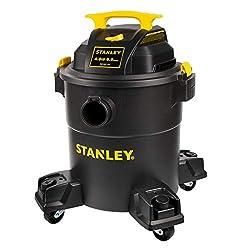 Stanley Wet/Dry 6 Gallon Shop Vac, Black