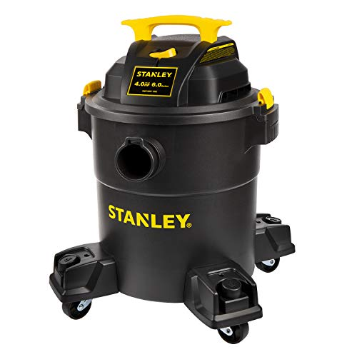 Review Of Stanley 6 Gallon Wet Dry Vacuum , 4 Peak HP Poly 3 in 1 Shop Vac Blower with Powerful Suct...