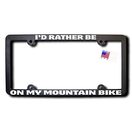 James E. Reid Design I'd Rather Be ON My Mountain Bike License Frame (v2)