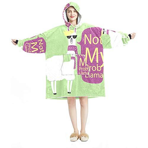 Sudadera con capucha para mujer, cómoda para mujer, chándal, calentito, calentito, animal, alpaca
