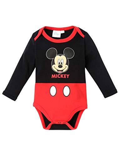 Body Manches Longues bébé garçon Mickey Noir/Rouge de 3 à 24mois - Noir/Rouge, 18 Mois