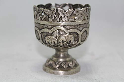 Rajasthan Gems - Copa de cristal tallada con diseño tradicional hecho a...