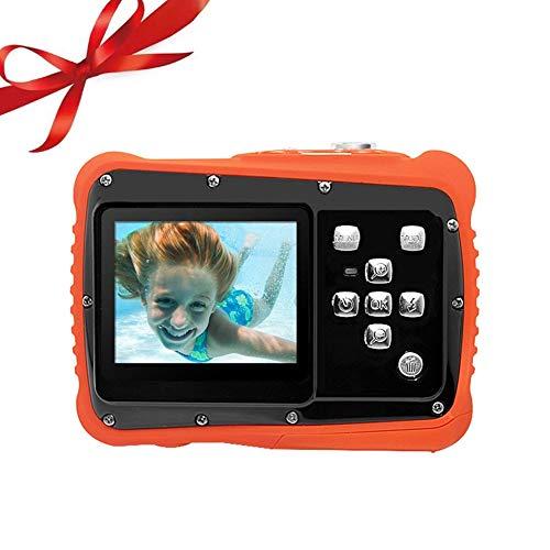 OSEI 子供用デジタルカメラ かわいい 子どもカメラ 子供プレゼント 操作簡単 高画素 3m防水機能付き 防塵 耐衝撃性 デジカメ子供 デジカメキッズ 多種言語 日本語対応 (オレンジ)