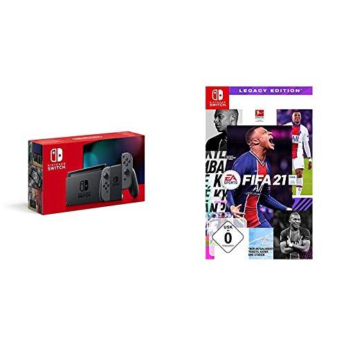 Nintendo Switch Konsole - Grau (2019 Edition) + FIFA 21 - [Nintendo Switch]