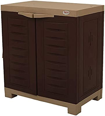 supreme Fusion Plastic Multipurpose Shoe Rack for Home & Personal Space (Brown, 2 x 2 Feet)