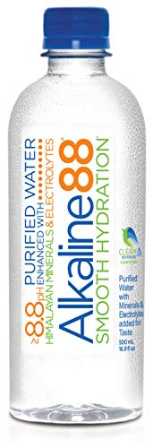 Alkaline88 Purified Ionized Water with Himalayan Minerals & Electrolytes for smooth taste. Perfectly balanced for your body with 8.8ph. (24) 500mL (16.9 Fl Oz) bottles per case. 100% Recyclable.