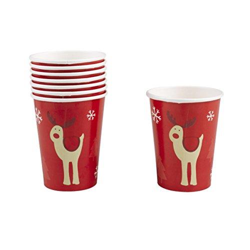 Neviti 'Rocking Rudolf' bicchieri di carta, multicolore, pezzi