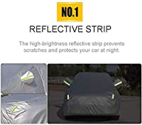(:シルバー、サイズ:カラーマスタングマッハ-E)カーカバーは、フォードマスタングマッハ-E 5層全天候型防水性と耐久性のあるアンチスクラッチプロテクト車で互換性の収納に便利をインストールする簡単なペイント、サイズ:マスタング、カラー:シルバー (Color : Silver, Size : Mustang)