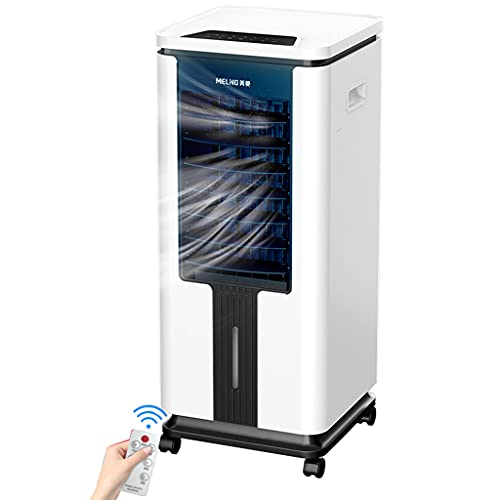 Air-conditioning fan-Jack Mobiles Klimagerät mit Wasserkühlung,75W Verdunstungskühler,3 Windeinstellungen,3 Geschwindigkeiten,9L Wassertank,3 in 1 Lüfter/Luftbefeuchter/Conditioner, für Büro, Zuhause