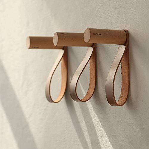XAOMLP Wooden Coat Hooks Wall Mounted Vintage Single Organizer Hangers Handmade Craft Hat Rack 3pcs