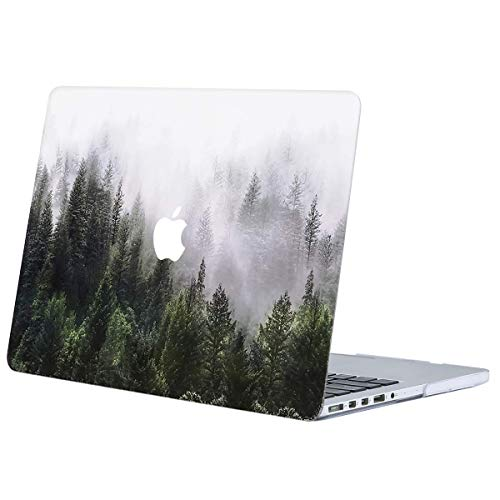 MOSISO Plastic Pattern Hard Shell Case Cover Only Compatible with Older Version MacBook Pro Retina 13 Inch (Model: A1502 & A1425) (Release 2015 - end 2012), Green Forest