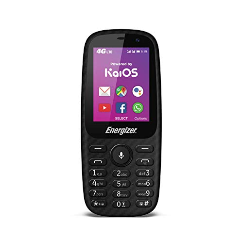 Energizer E241S - Unlocked 4G Mobile - Powered by KaiOS - EU-Stecker (Bildschirm: 2,40 Zoll - 4 GB - Double SIM) Schwarz