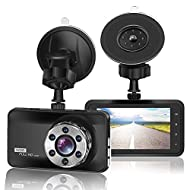 """FHD 1080P Resolution & 3.0"""" Screen: Full HD 1920X1080P at 30 fps video enable to capture every road conditions and license plates details. 3"""" Super large LCD Display that can shows the real-time image, helps you see every details as clear as possible..."""