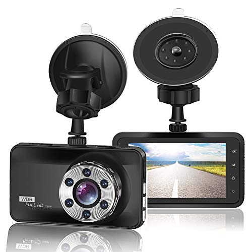 "ORSKEY Dash Cam 1080P Full HD Car DVR Dashboard Camera Video Recorder in Car Camera Dashcam for Cars 170 Wide Angle WDR with 3.0"" LCD Display Night Vision G-Sensor"