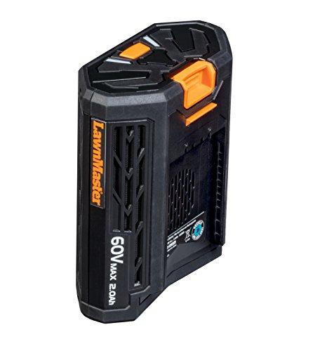 LawnMaster 60LB2021-S 60V Max Lithium-Ion Rechargable Battery 2.0Ah Black