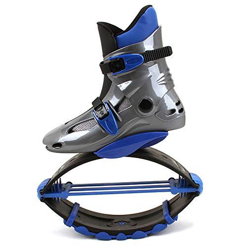 YLME Jump Boots Für Kind, Jumping Shoes, Bounce Shoe Jumps Rebound Schuhe, Unisex Fitness Jumps Dance Bounce Shoes Übung Für Den Innen- Und Außenbereich,Blau,L