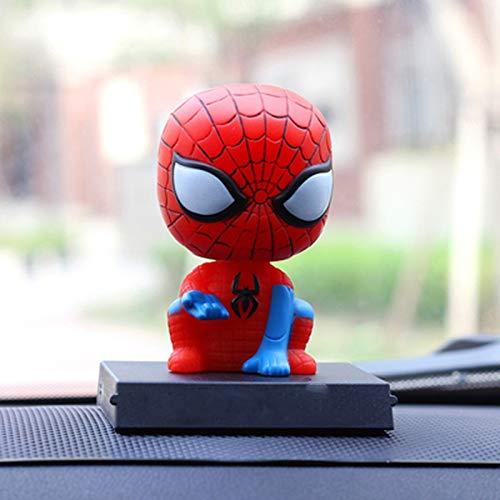SSRS Sacudir la Cabeza Hombre araña Iron Man Batman Capitán América Decoración de Coches Muñeca Dibujos Animados Decoración de Coches Interior del automóvil Joyería Vengadores Super héroe Juguete