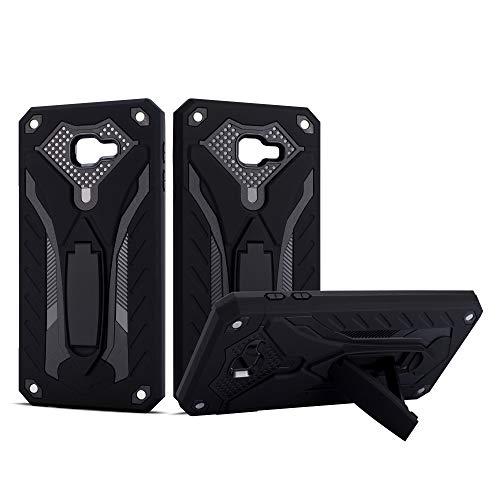 MoEvn Hülle Schwarz für Samsung Galaxy J4 Core, Samsung Galaxy J4 Core Hülle Hybrid 2 in 1 Armor Case Shockproof Kratzfest Robuste PC+TPU Hardcase für Galaxy J4 Core (6.0