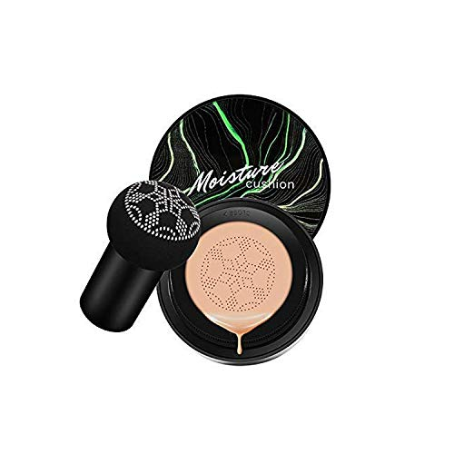 lucaswang Air Cushion CC Cream Mushroom Foundation Moisturizing BB Cream Makeup Long Lasting Matte Concealer (Natural)