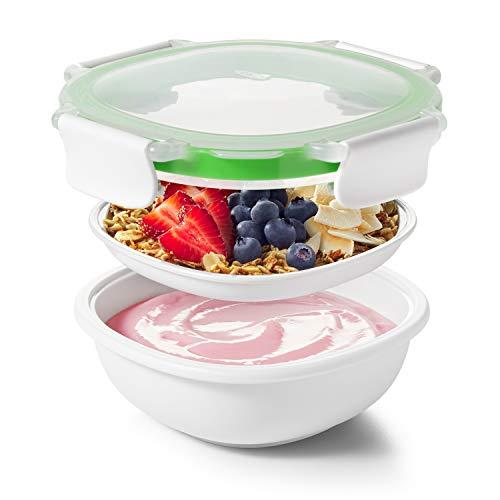 OXO Good Grips Snackbox für unterwegs, BPA frei, Spülmaschinenfest