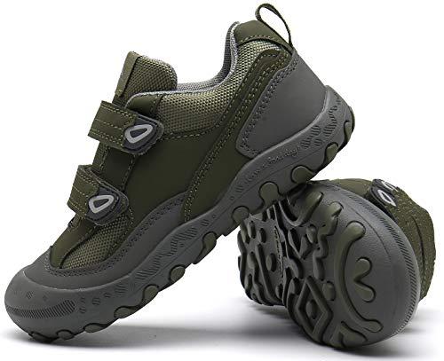 Mishansha Zapatos de Running Niños Transpirable Caminar Zapatos de Deporte Outdoor Antideslizante Ligeras Zapatillas de Deportivas Verde Gr.36