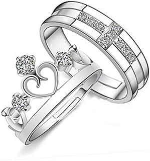 خاتم بسيط النسخة الكورية من ريترو زوجين مجوهرات الرجال والنساء خاتم التاج