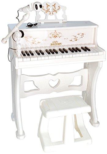 Bontempi- Pianoforte, Colore Bianco, 10 8000