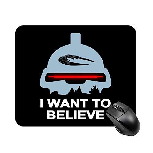 Believe in Toasters Battlestar Galactica Alfombrilla de mesa antideslizante de alta velocidad para juegos, Alfombrilla de ratón con base de goma cuadrada para oficina, Alfombrilla de escritorio pequeñ