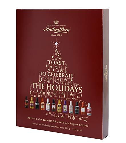 Anthon Berg Calendrier de l'avent avec 24 bouteilles de boisson alcoolisée au chocolat 375g