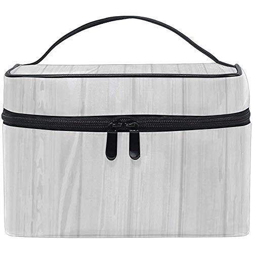 Make-up tas grijs houten draagbare grote cosmetische toiletborstel tas reizen trein case organisator doos zak